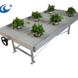 4'X8' Size Greenhouse/Agricultural System Table Ebb And Flow Rolling Benches( with gray/white tray)