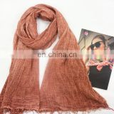 2016 Hotselling cheap and fine plain multi-color viscose long scarves