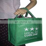 single colour printed jute bag