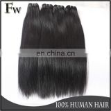 Silky straight black raw indian hair extension 100% remy virgin human braids hair