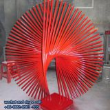 Iron Sculpture Ornaments Abstract Art Public Indoor Space For Decoration Customized