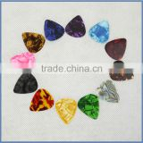 wholesale custom guitar accessories colorful celluloid acoustic classical guitar pick