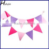 Multi Pink Colour Felt Banners Customize Wedding Bunting Decor Party Birthday Baby Show Garland Decoration PLC009