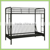 C style Bedroom Furniture Twin Futon Metal Frame Bunk Bed/Triple Bed