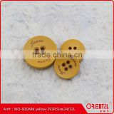 wooden suit button with coating and logo