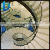 High grade curved laminated glass for spiral staircase