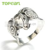 Topearl Jewelry Popular New Fashion Stainless Steel Ring Goat Head Ring High Quality Animal Ring for Men MER444