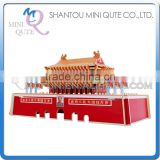 Mini Qute 3D Wooden Puzzle China TIANAN MEN world architecture famous building Adult kids model educational toy gift NO.JZ601