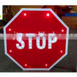 Wholesale octagon aluminum solar power outdoor led traffic sign