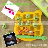 Nicole Hot Sale Cheap DIY Chocolate Making Set Silicone Molds with Tools