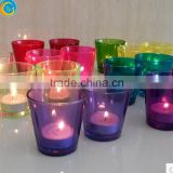 colorful glass candle holder for home decor party centerpieces