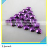 Hotfix Transfer Loose Rhinestuds Purple Iron On Octagon Aluminum Rhinestone For Nail Art