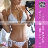 2016 Hot Sale Women's Sexy Lace Knitted Bikini Set Halter Beach Bathing Suit Swimwear