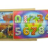 4*12 pieces animal world puzzle, educational puzzles, wooden puzzles, wooden Jigsaw puzzles