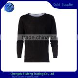 Trendy 100% Cotton Long Sleeves Scoop Neck Tshirt for Men