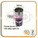 Cocoa food grade tin can