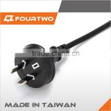 SAA approval Australian power cord with 3 pin plug