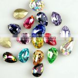 Small crystal drop stones , fancy tear drop rhinestones crystal nail art articles wholesale