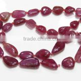 Super Finest Quality Natural Pink Ruby Tumble Shape Beads 6X9MM-10X20M Approx 16''Inch
