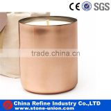 Stainless Steel Copper candle cup and vase with soy candle wax jar