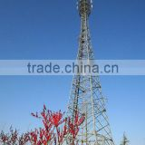 Telecommunication Steel Pole, GSM Communication Tower with Galvanization and Powder Coated