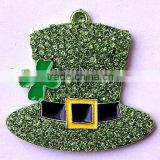 Factory Direct AAA Quality Fashion Easter Alloy hat rhinestone charming crystal pendants for kids jewelry making!!