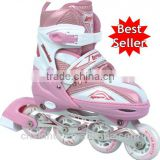 2015 hot sale new design retractable inline skate shoes for kids and adult