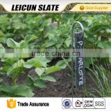 2016 Newest design garden creative tag with iron wire support natural stone slate plant label