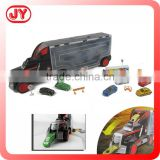 2015 Big size free wheel container truck full toy diecast cars metal car with EN71