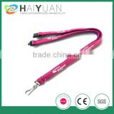 silk screen printing tube lanyard with safety break