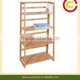 4 tier natural bamboo books rack for kids