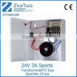 24 volt dc power supply 24v 5 channels out put cctv camera power supply distribution box