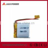 small lithium polymer battery UL approved li-polymer baterry 3.7V 430mAh li-polymer battery power bank 503030