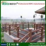 2016 hot sale fence construction fencing with wood-plastic composite decking floor