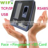 4.3 inch TFT wifi or p2p facial & fingerprint RFID identifcation time attendance