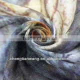 custom silk scarf 2014 fashion digital print 100% purple cashmere scarf custom silk scarf