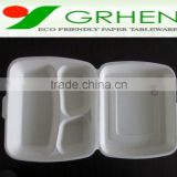 Disposable biodegradable food containers,lunch box,fast food clamshell,disposable food clam shell