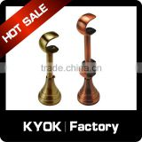 KYOK 28*22mm Black Curtain Pole Brackets,22mm Ball Tiebacks Bay Corner Passing Metal Rings Curtain Rod Parts