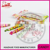 long stick bubble gum center filled sour powder candy