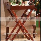 Serving table with Removable Tray wooden bed breakfast table