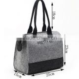 Brand New Design Felt Material Shopping Bag for women And Promotional FASHION handbag shoulder bag