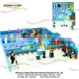 Indoor playground type plastic material ocean theme factory direct sale soft play structure with ball pit