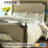 veken products 10 years export experience popular 400TC 60S*60S 70%bamboo fiber pink bedding linens