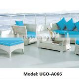 Europe Standard Environmental-friendly Synthetic Wicker Furniture rattan sofa set UGO-A066