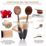 10Pcs/Set Beauty Toothbrush Shaped Foundation Power Eyebrow Eyeliner Lip Facial Makeup Oval Cream Brushes Makeup Tools