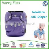 Happy Flute OEM Service Health Useful Newborn Baby Cloth Diapers sewn in insert diaper