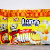 Baked Wafer Cookies Biscuit Snack LIPO 300g Cream Egg with HALAL, ISO, HACCP Certification