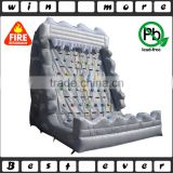 used inflatable indoor rock climbing wall, 0.55mm PVC tarpaulin climbing mountain sport games