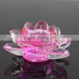 Heavy thick large crystal candle holders wedding table decorations glass candle holder with lid