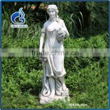 Life size fiberglass beauty lady statues for garden decoration
